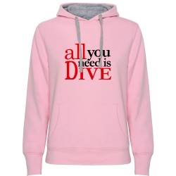 Sudadera Chica ALL YOU NEED